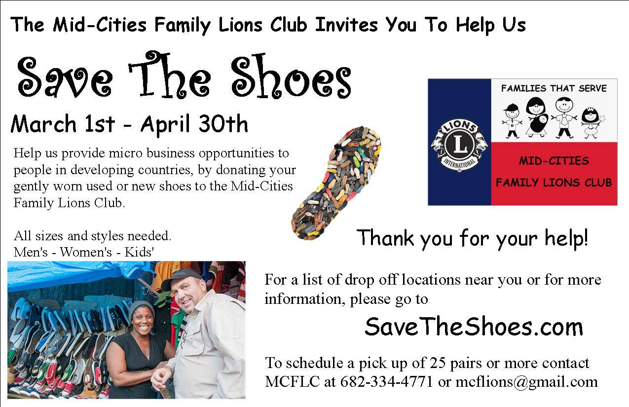 Mid-Cities Family  - Save the Shoes