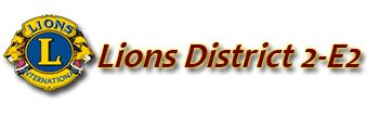 LIONS DISTRICT 2E2